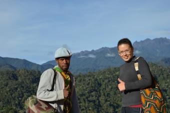 Výzkum na Papui-Nové Guinei. Kredit: K. Sam.